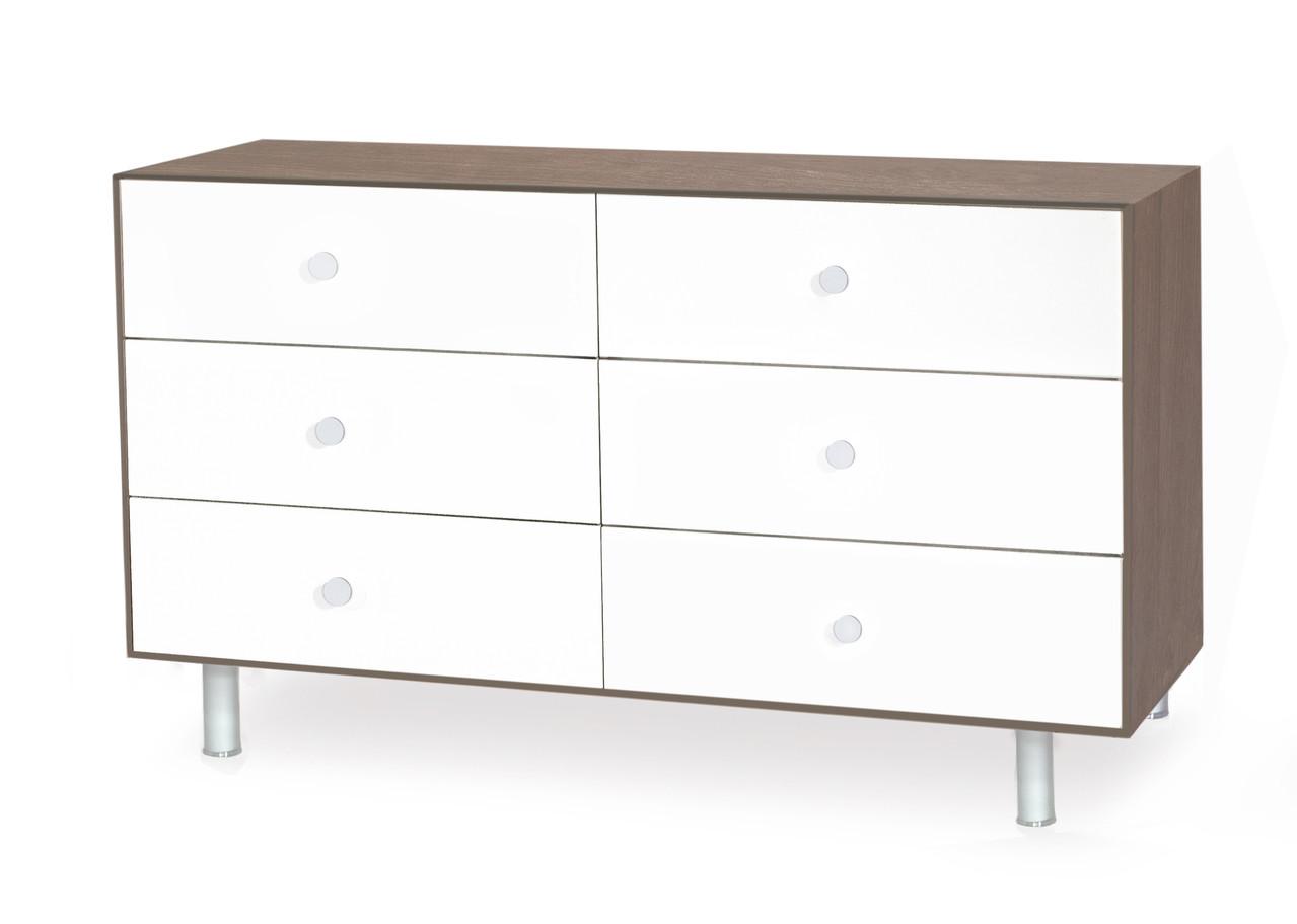 oeuf 6er kommode merlin classic walnuss weiss kind der stadt kinderwagen und kinderm bel. Black Bedroom Furniture Sets. Home Design Ideas