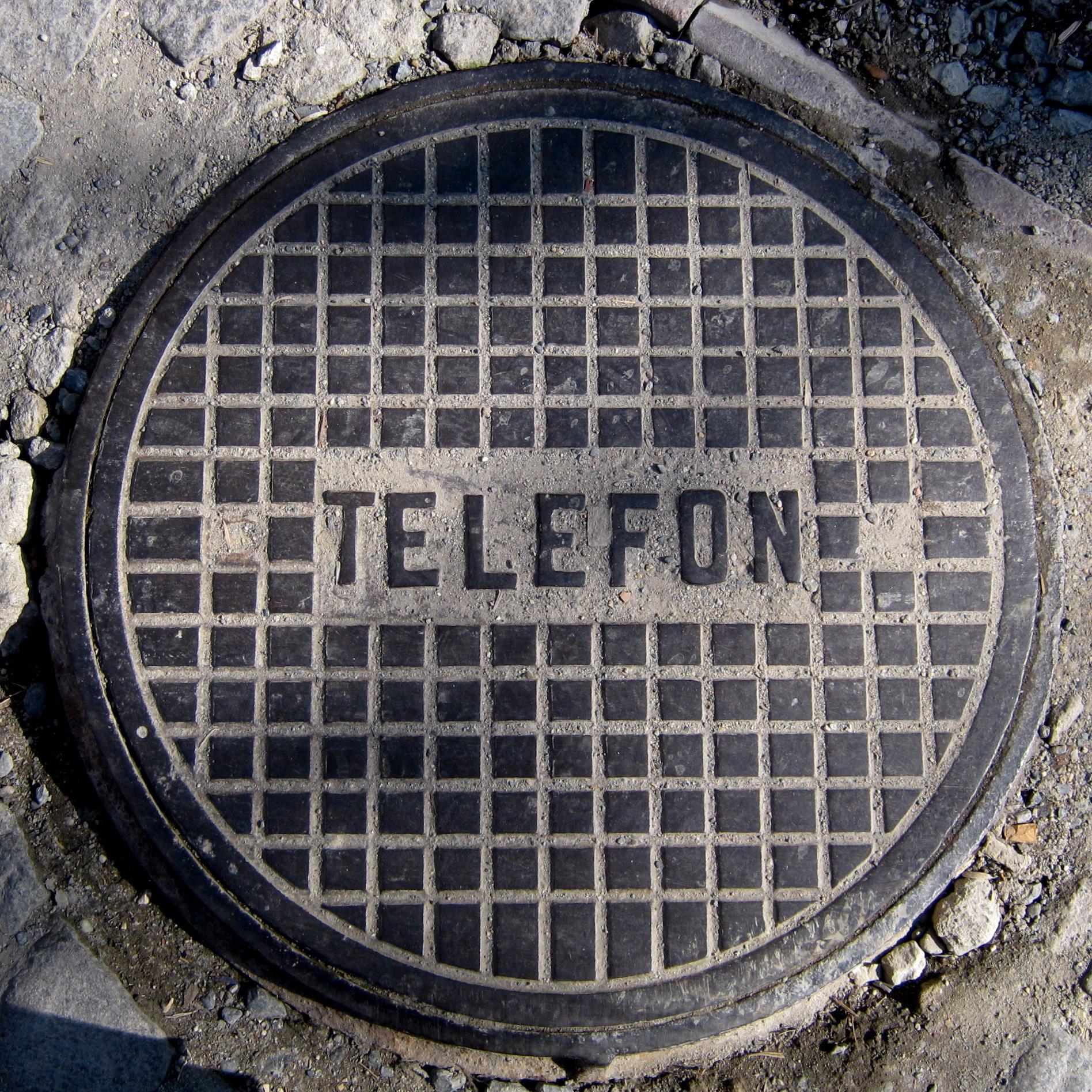 Deckel für Telefonleitungen in Istanbul