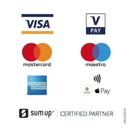 Sum-Up Certified Partner - Die Physiotherapie Sabrina Wulf in Handewitt akzeptiert Kartenzahlung und natürlich auch Apple Pay und Google Pay