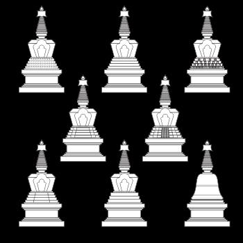 Stupa, Stupas, Thiksey, monastery, Buddha, Nirvana
