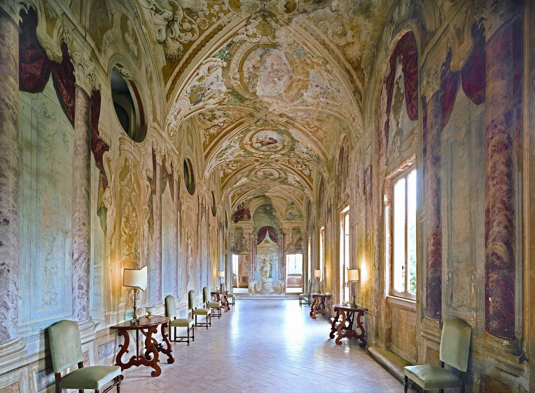 Innenansicht Korridor Villa Grazioli