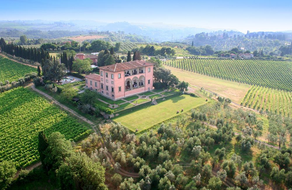 Luftbild Villa Mangiacane