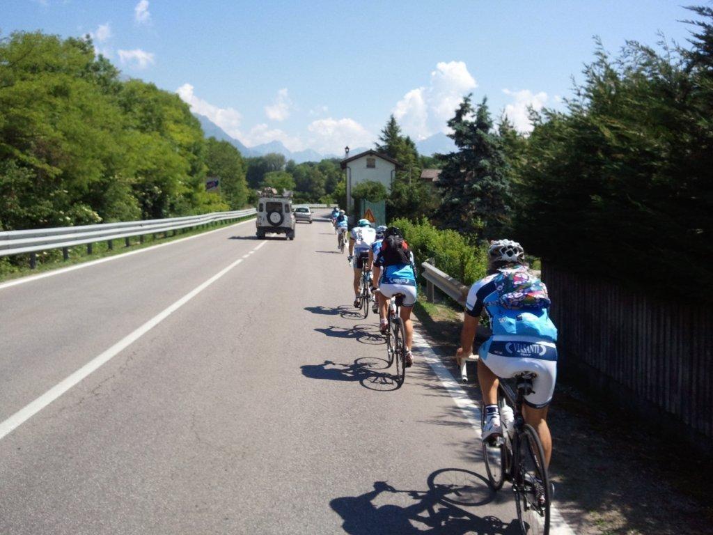 Tappa del Giro Belluno - Nevegal  24-5-2011  foto F. dal Fior