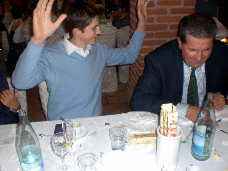 Asd VP Parolin    Pranzo Sociale 07/11/2010    Il fortunato vincitore del quarto premio Scarpe Gaerne in carbonio