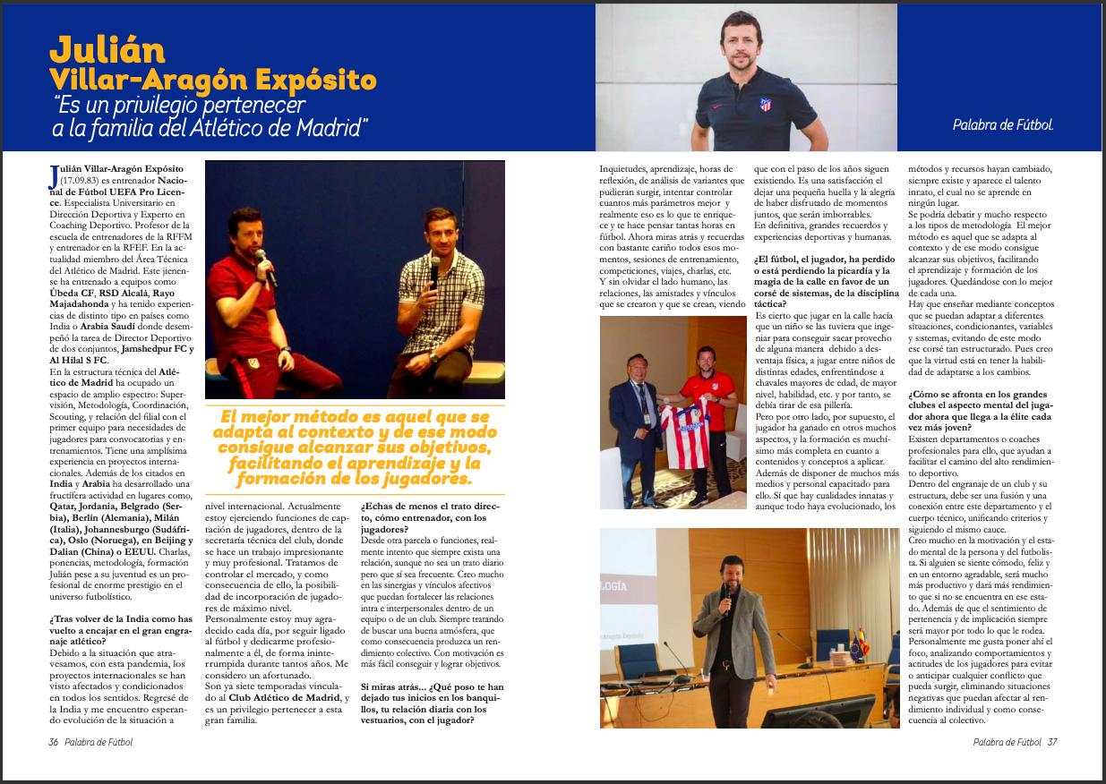 """Entrevista para la revista """"Palabra de Fútbol"""""""