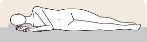 横向きに寝ている図