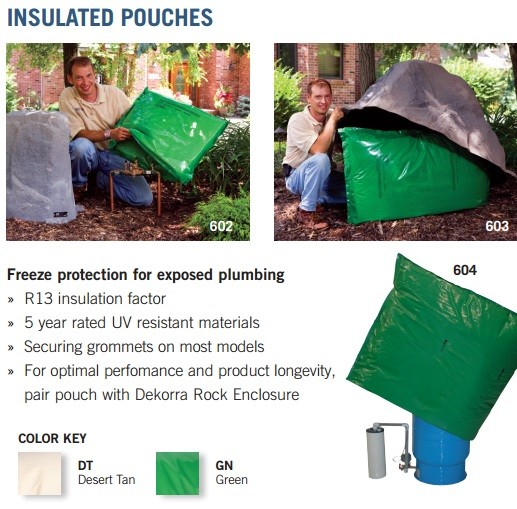 Insulated pouch 616 all mock rocks dekorra rock products for Rocks all insulation