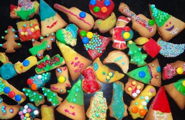 Bunte und lustige Dekoration aus der Hausbäckerei