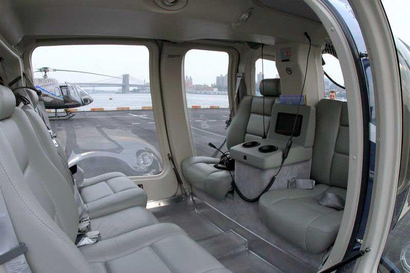 Innenraum einer Bell 407