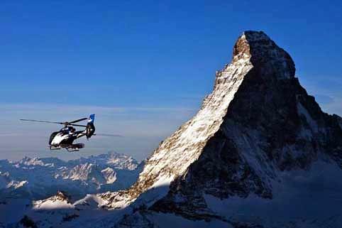 Gletscherlandung Zermatt Äschihorn