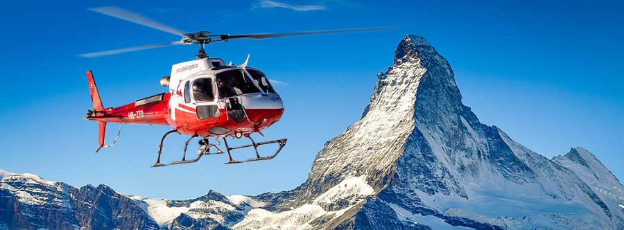 Helikopterrundflug Matterhorn ab Gsteigwiler