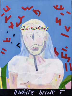 white bride, 2018, Ölfarbe auf Leinwand, 80 x 60 cm