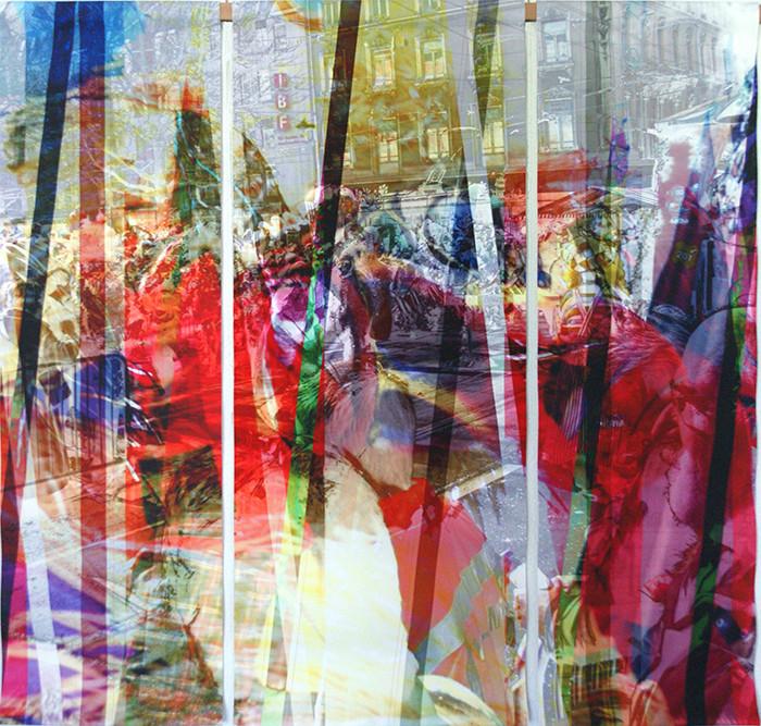 wef107x109n3, 2013. imprime et crayon sur canvas. 106,5x113 cm