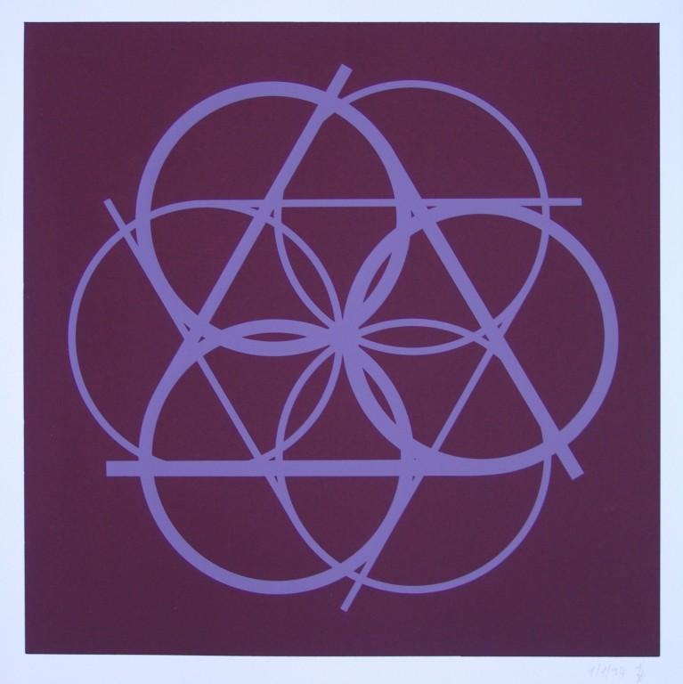 o.T. (die Sechs), 1994. Siebdruck auf Offsetpapier (in Kleinstauflage), Format: 70 x 50 cm