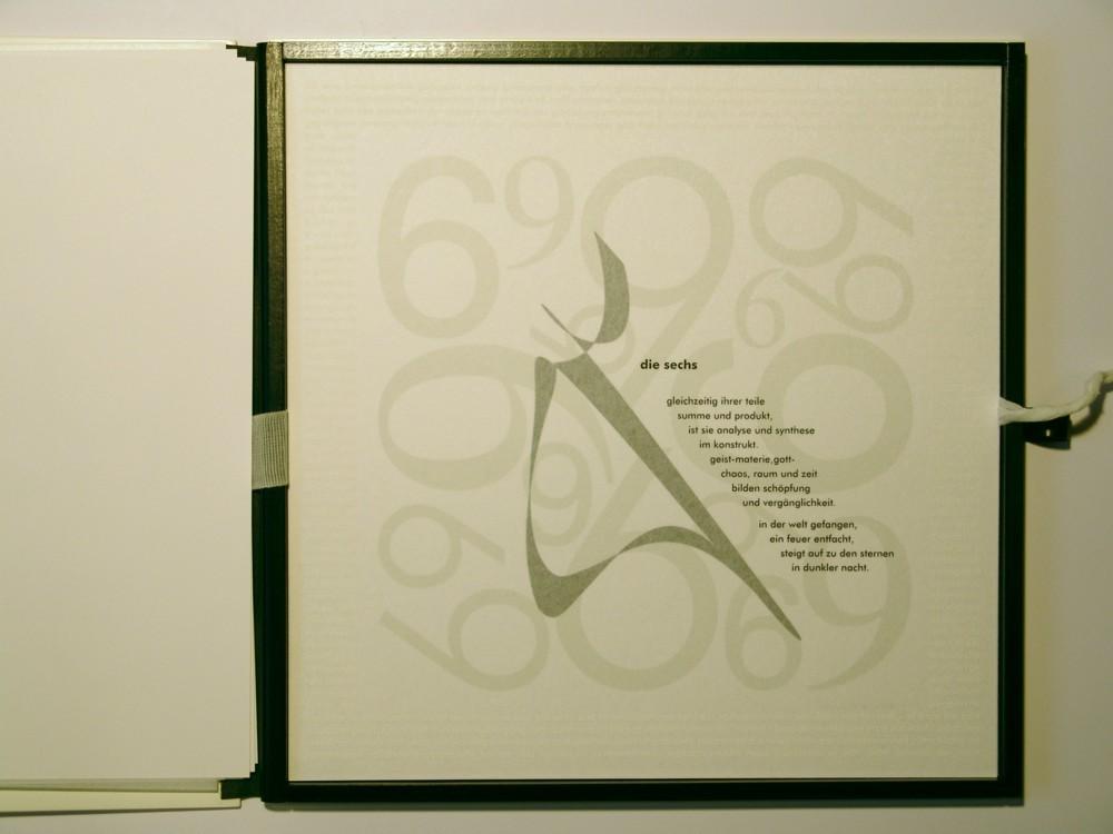 Die Sechs. Siebdruck in Kleinstauflage auf Japan- und Offsetpapier, Format 40 x 40 cm