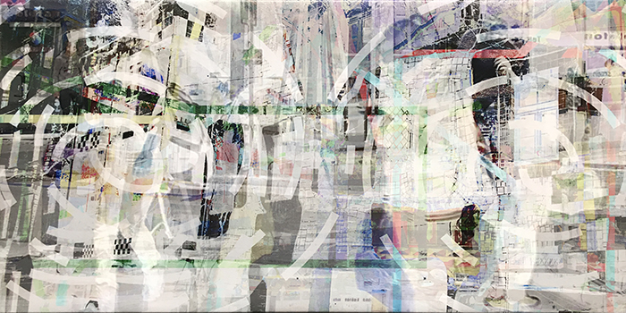 warten(04)/wait_2018_pigmented-inkprint-and-acrylic-on-canvas_size50x100cm