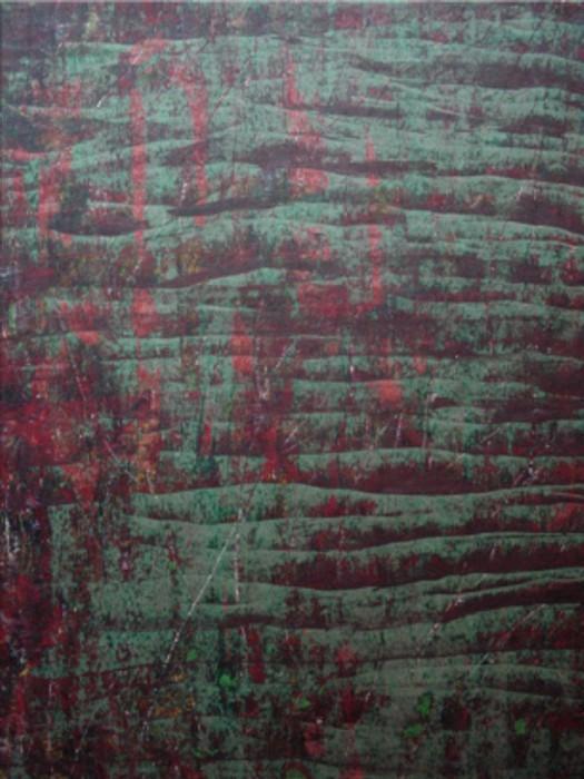o.T. 1993 (Farbexperiment) Mischtechnik auf Zeichenpapier, Format: ca. 100 x 70 cm