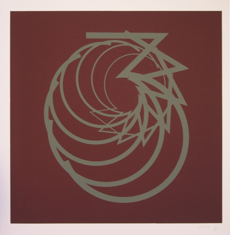 o.T. (die Drei), 1993. Siebdruck auf Offsetpapier (in Kleinstauflage), Format: 70 x 50 cm