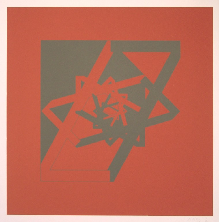 untitled (number seven), 1994. Silk-Screening on Offset-Paper (in small edition), Size: 70 x 50 cm