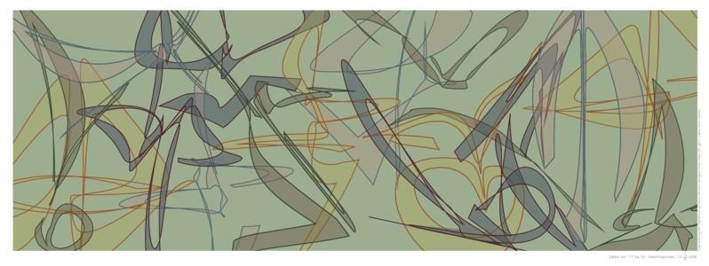 """Die Zahlen von """"17"""" bis """"32"""", 2008 (Multiple). Inkjet-Print auf Fotopapier, Auflage: 5 Ex. Format: 33 x 92 cm"""