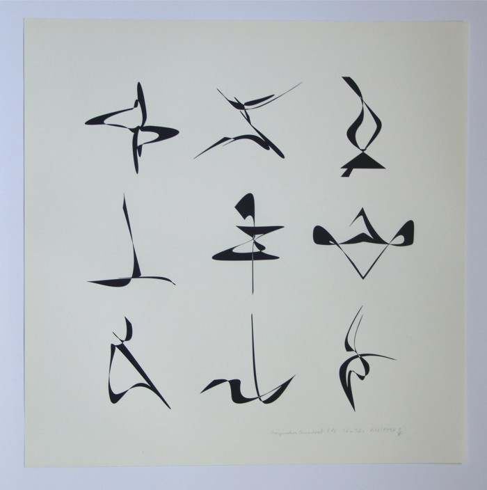 magic square 816, 1997 Silk-Screening on Japanese and other Papers (in small edition), Size: 46 x 46 cm