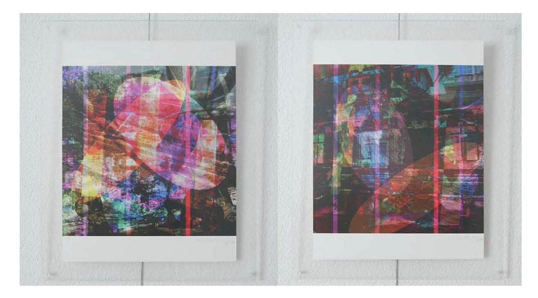 à gauche: web32x33n2, 2015. à droite: web32x33n5, 2015. tous: imprime sur canvas. 42 cm x 33 cm chaqu'un