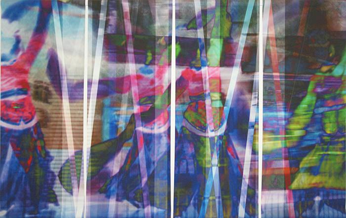 wet107x173n2, 2013. imprime et crayon sur canvas. 106,5x179 cm