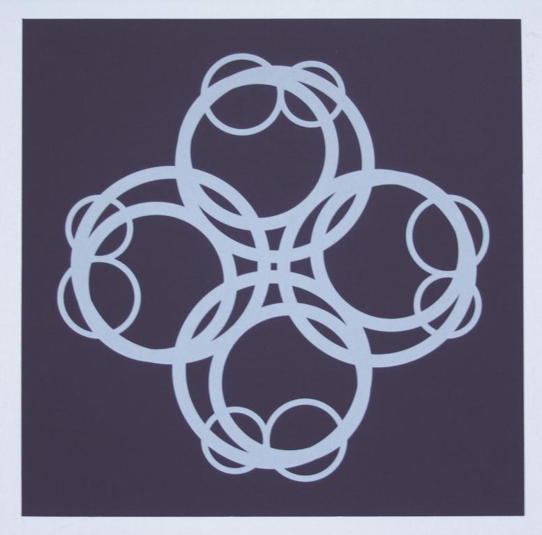 o.T. (die Acht), 1994. Siebdruck auf Offsetpapier (in Kleinstauflage), Format: 70 x 50 cm