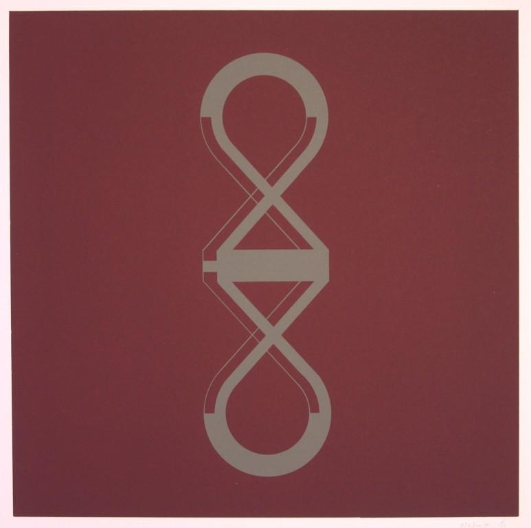 o.T. (die Zwei), 1993. Siebdruck auf Offsetpapier (in Kleinstauflage), Format: 70 x 50 cm