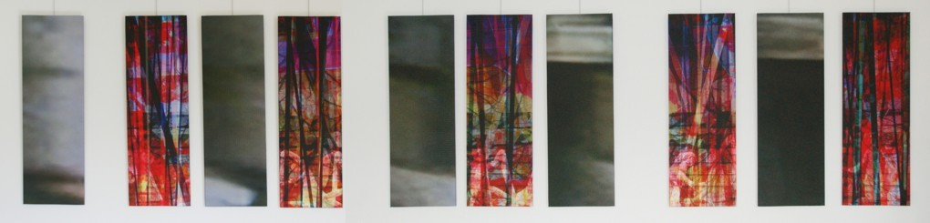 untitled, 2009 (10 single parts). Inkjet-Print on Canvas. Size: 10x 100 x 35 cm