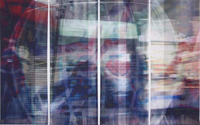 wet107x173n3, 2013. imprime et crayon sur canvas. 106,5x179 cm