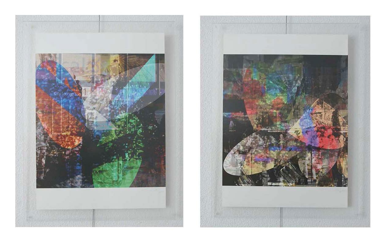 à gauche: wef42x43n19, 2015. à droite: wef42x43n20, 2015. tous: imprime sur canvas. je 59.5 cm x 43 cm chaqu'un