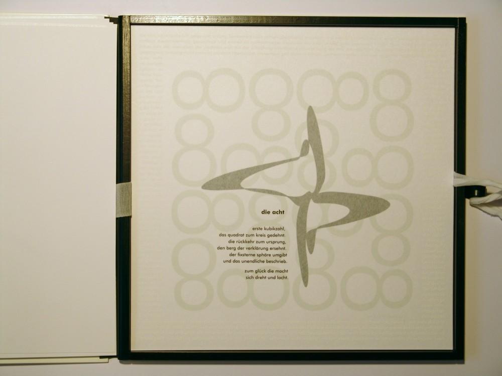 Die Acht. Siebdruck in Kleinstauflage auf Japan- und Offsetpapier, Format 40 x 40 cm