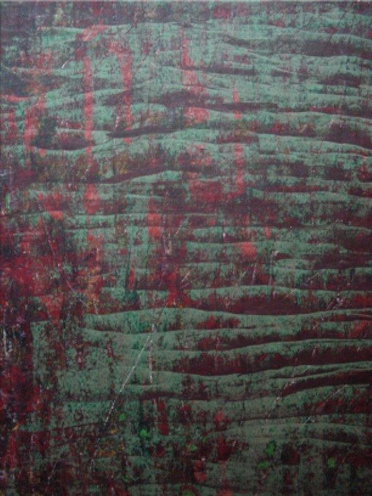 untitled 1992 (colours' experiment) Mixed Media on Drawing Paper, fixed, Size:  ca. 100 x 70 cm