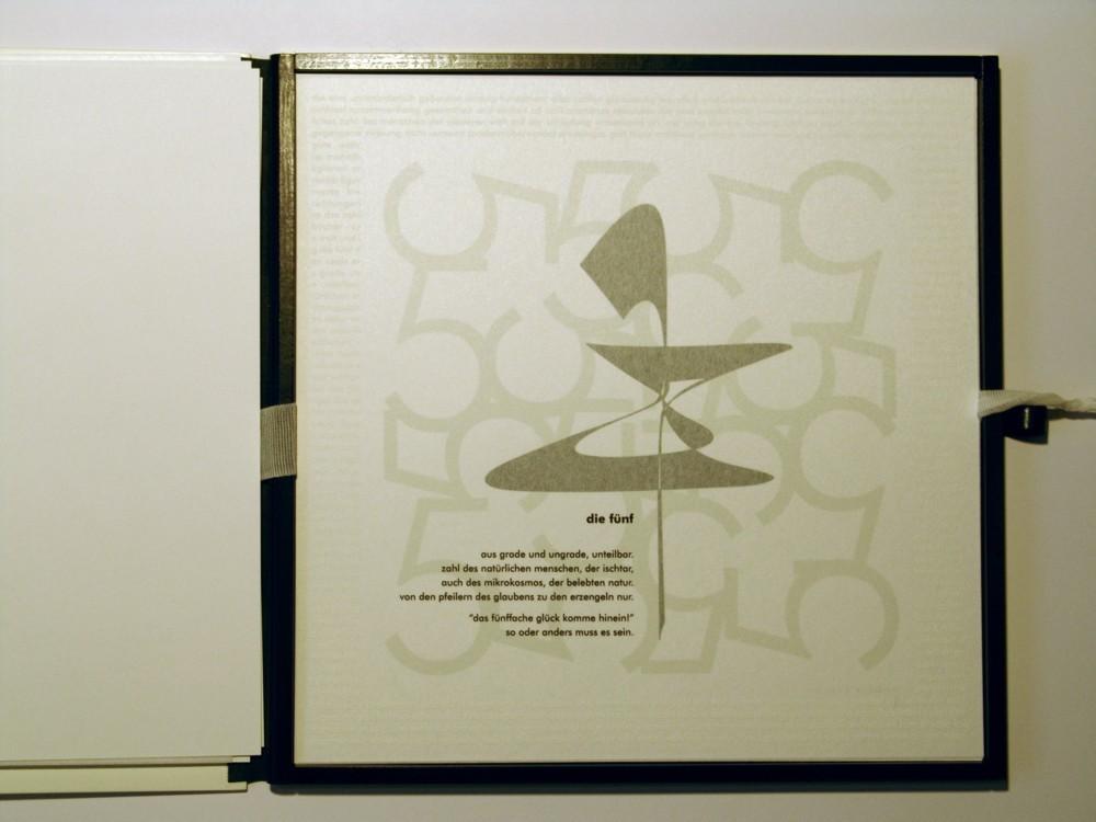Die Fünf. Siebdruck in Kleinstauflage auf Japan- und Offsetpapier, Format 40 x 40 cm