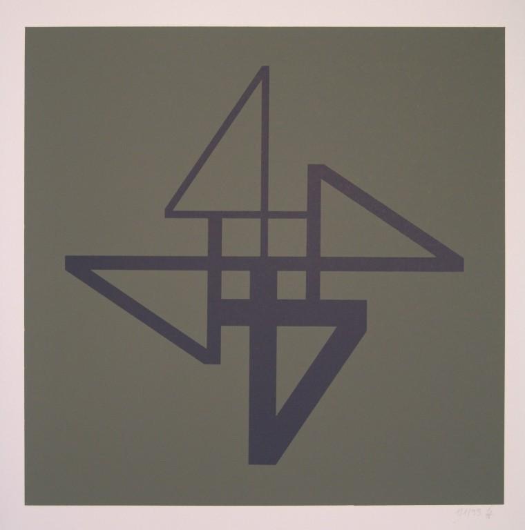 o.T. (die Vier), 1994. Siebdruck auf Offsetpapier (in Kleinstauflage), Format: 70 x 50 cm