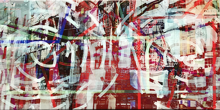 warten(05)/wait_2018_pigmented-inkprint-and-acrylic-on-canvas_size50x100cm