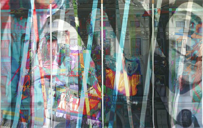 wef107x173n2, 2013. imprime et crayon sur canvas. 106,5x179 cm