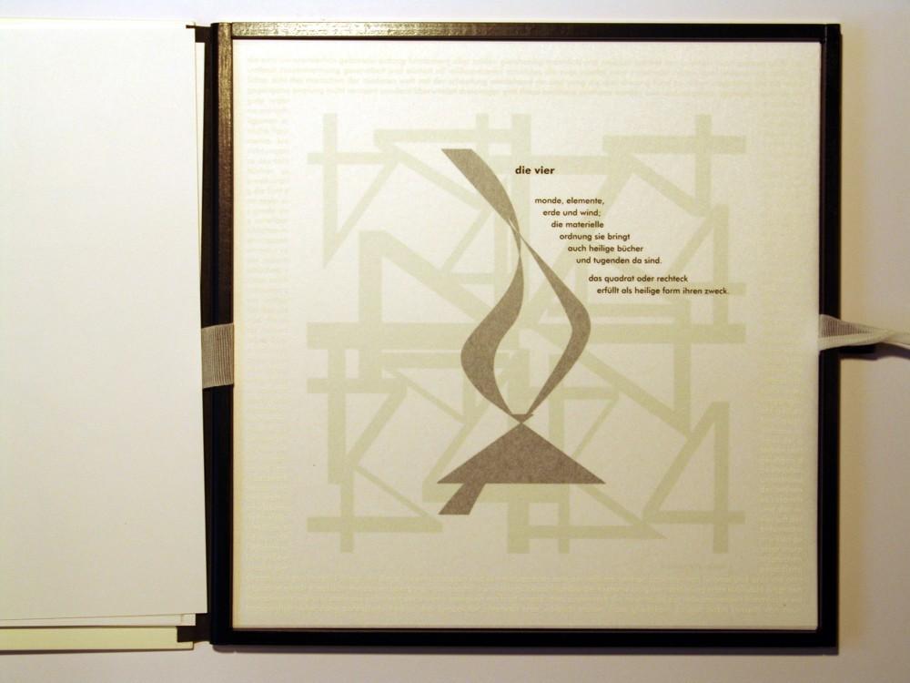 Die Vier. Siebdruck in Kleinstauflage auf Japan- und Offsetpapier, Format 40 x 40 cm