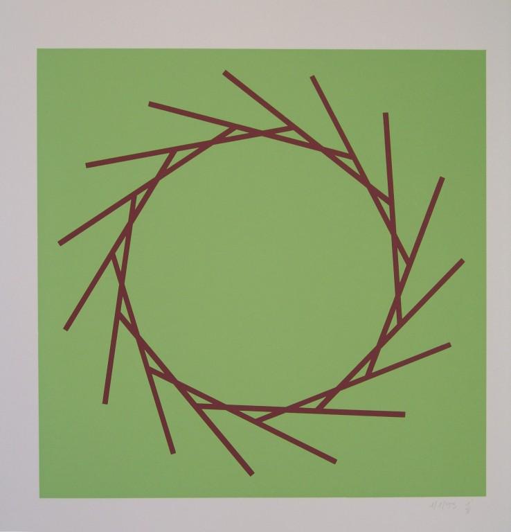 o.T. (die Eins), 1993, Siebdruck auf Offsetpapier (in Kleinstauflage), Format: 70 x 50 cm