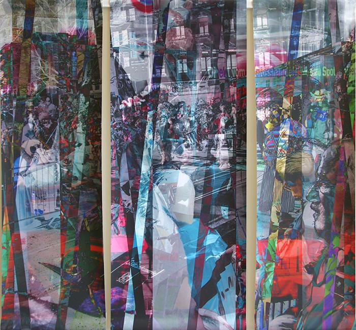 wef107x109n1, 2013. imprime et crayon sur canvas. 106,5x113 cm