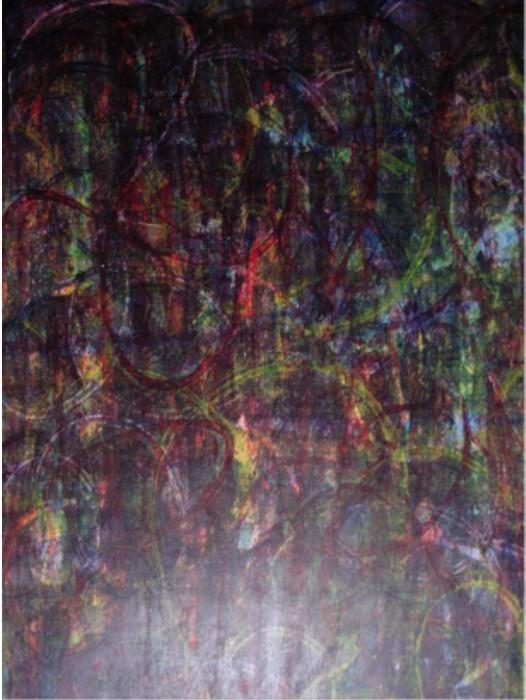 o.T. 1993 (Farbexperiment) Acryl auf Zeichenpapier, Format: ca. 100 x 70 cm