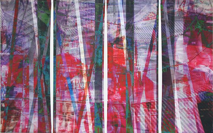 wet107x173n5, 2013. imprime et crayon sur canvas. 106,5x179 cm