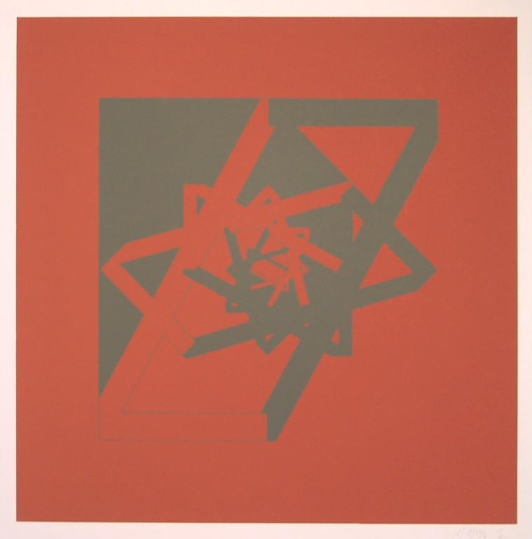 o.T. (die Sieben), 1994. Siebdruck auf Offsetpapier (in Kleinstauflage), Format: 70 x 50 cm