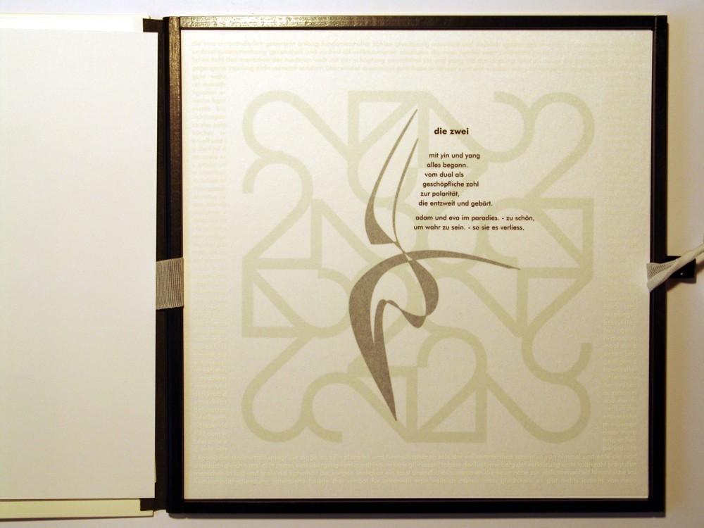 Die Zwei. Siebdruck in Kleinstauflage auf Japan- und Offsetpapier, Format 40 x 40 cm