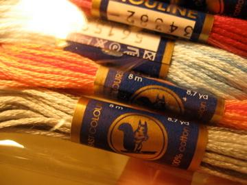 リス印刺繍糸