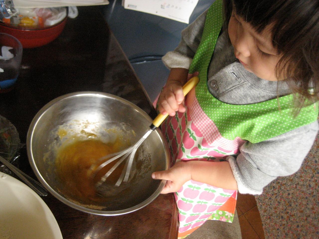 ホットケーキ作り