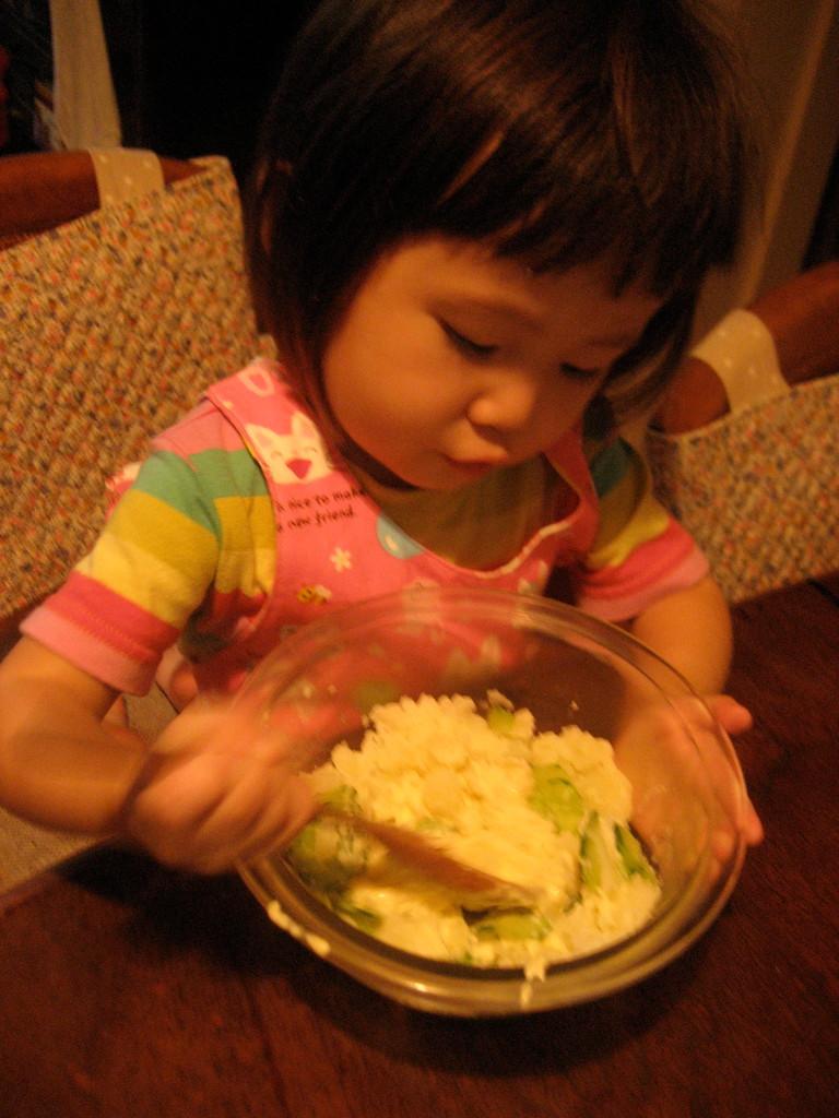 ポテトサラダ作り
