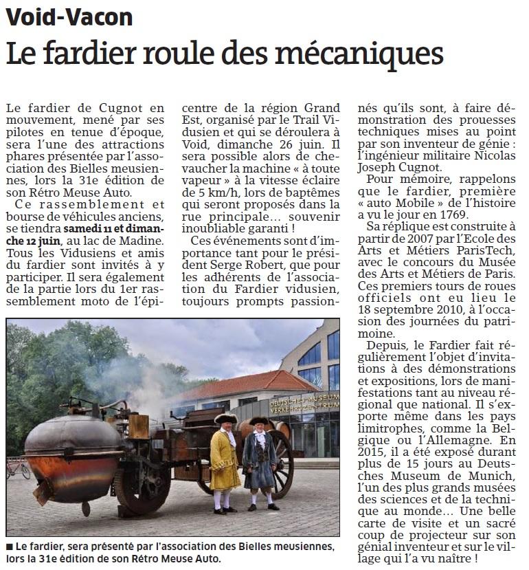 Article Est Républicain 27 mai 2016