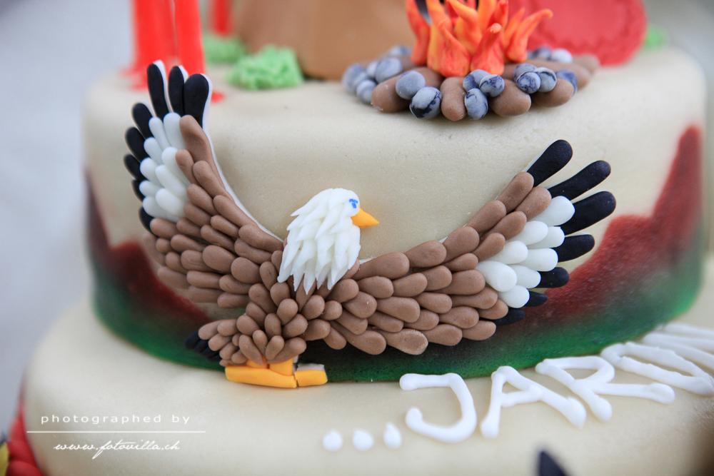 Indianertorte - Torte mit Adler